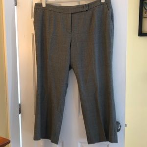 Pants - Black and ivory houndstooth pants